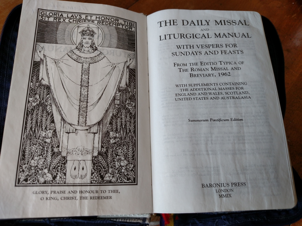 Catholic Missal - Baronius Press The Daily Missal And Liturgical Manual Title Page.