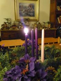 First Sunday Of Advent - Light one purple candle.