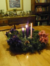 Second Sunday Of Advent - Light two purple candles.