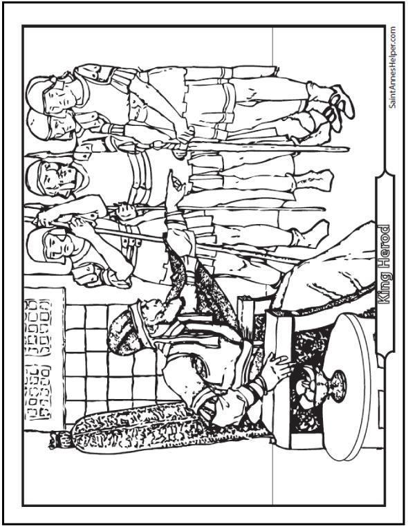 Printable Bible Story Coloring Page: King Herod
