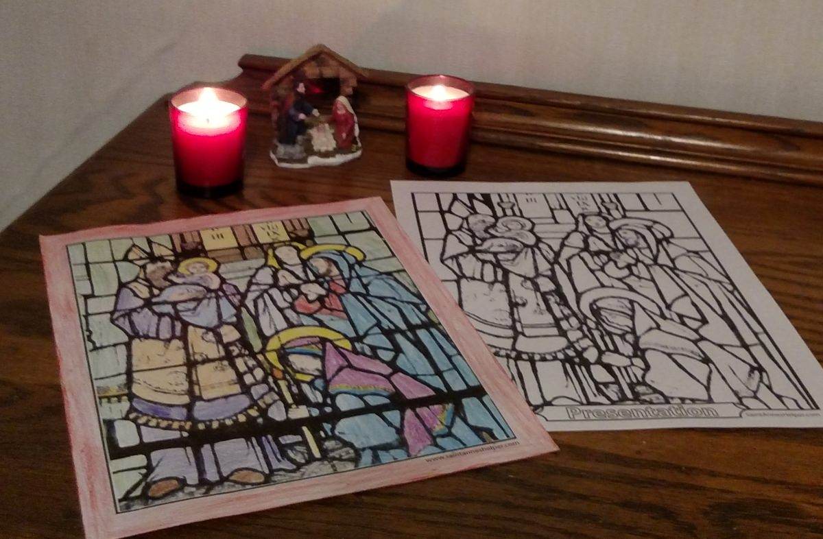 Candlemas Day coloring page: Presentation of Jesus, Purification of Mary