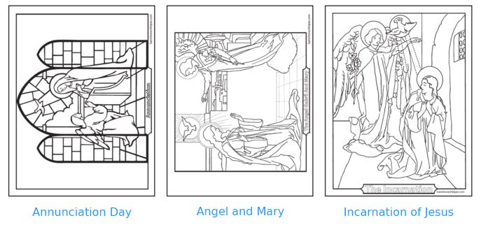 40+ Beautiful Rosary coloring pages for each of the Mysteries!