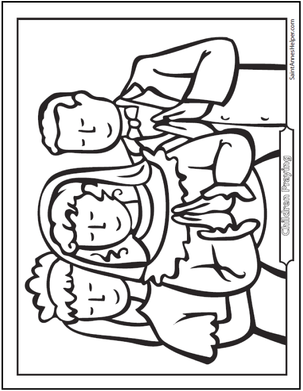 Children First Communion Coloring Page