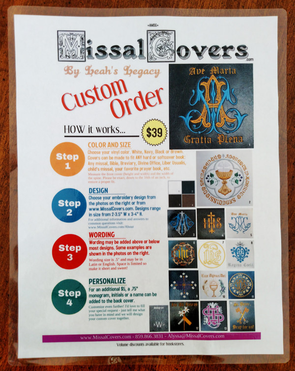 Mens Missal Cover: Many Prayer Book Options