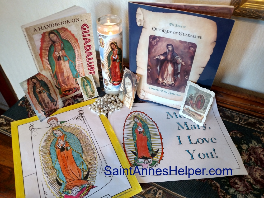 Our Lady of Guadalupe Image coloring pages. Happy feast day!