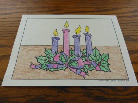 Advent Wreath Coloring Page: Color A Warm Welcome For Jesus