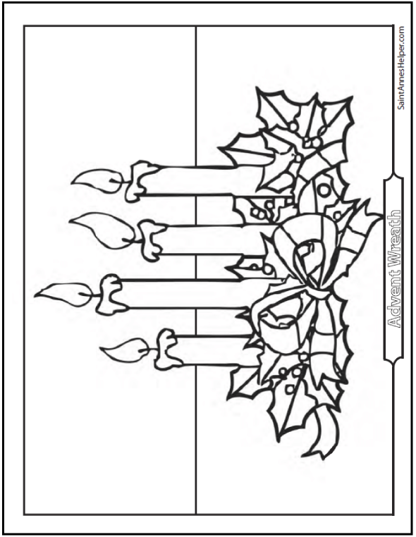 Advent Wreath coloring page.