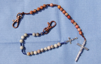 The Agate rosaries come in different color beads and cords.