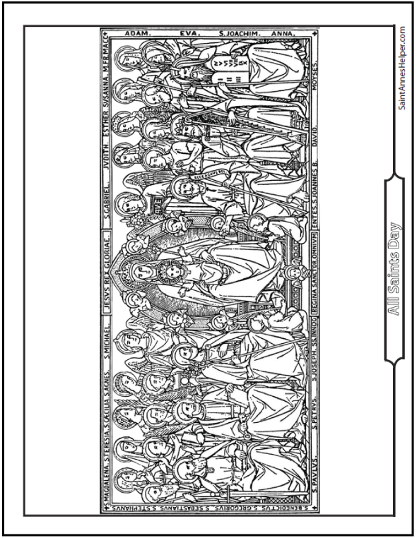 All Saints Coloring Page