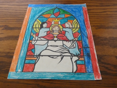 Jesus Stained Glass Coloring Pages - simple to realistic.