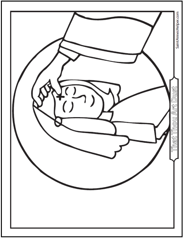 girl ash wednesday coloring pages