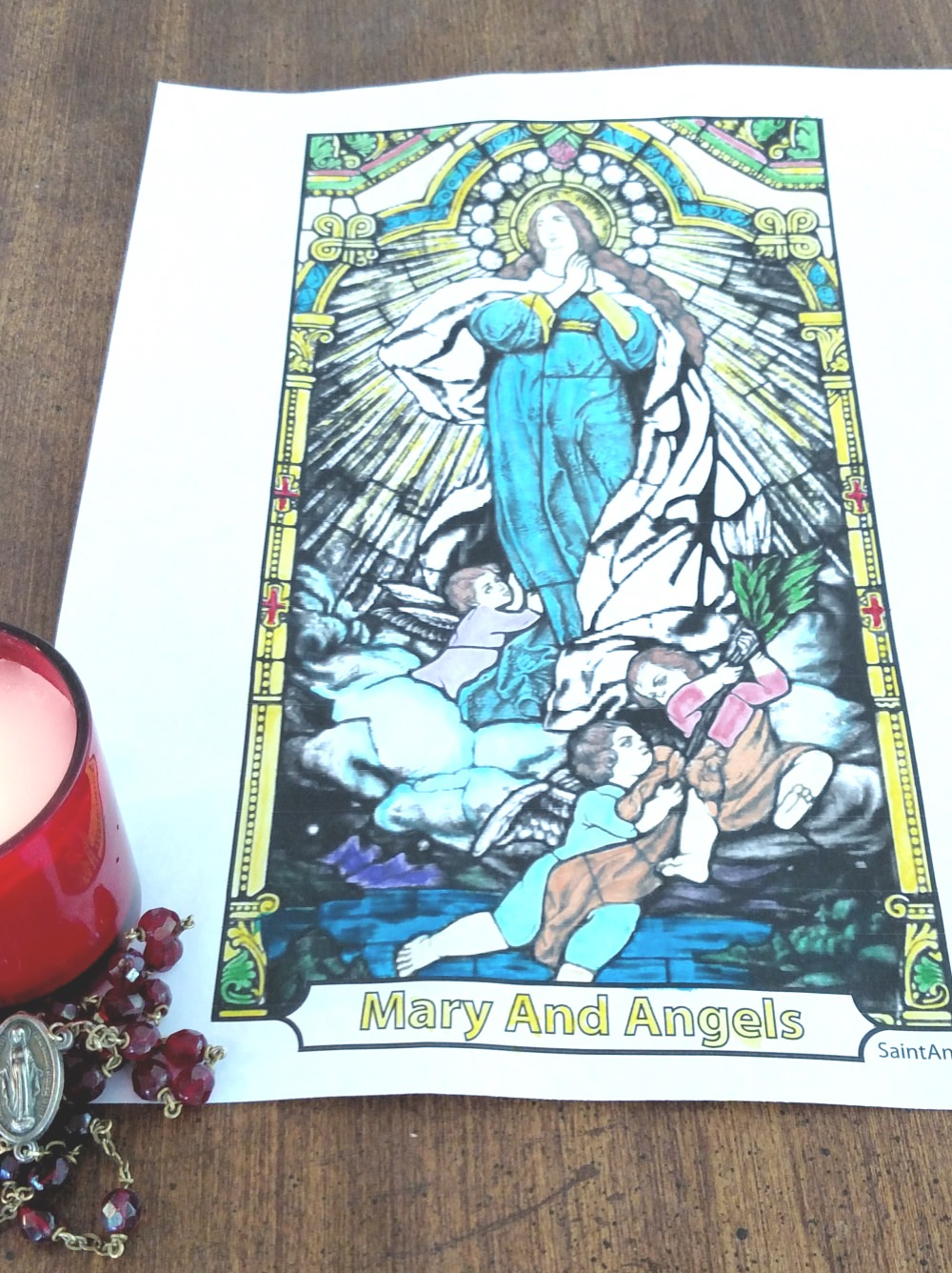 Assumption Day Coloring Page: Feast of the Assumption, August 15