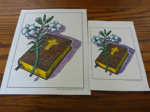 Bible Story Coloring Pages To Print: Bible and lily.