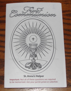 Catholic First Communion Catechism Booklet Download: Homeschool and Catechism class.
