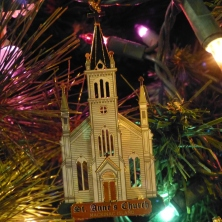 Catholic Church Christmas tree decorations