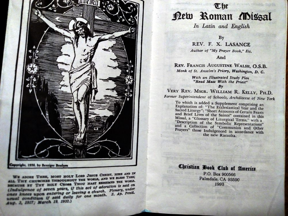 1945 Catholic Missal: Fr. Lasance The New Roman Missal For Catholics - Title Pages.