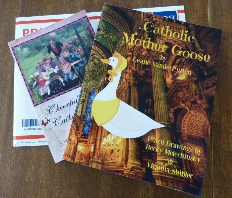 Catholic Mother Goose Nursery Rhymes was written by Leane VanderPutten and illustrated by Becky Melechinsky, and Virginia Shibler the way Catholic books ought to be written. Lovely!