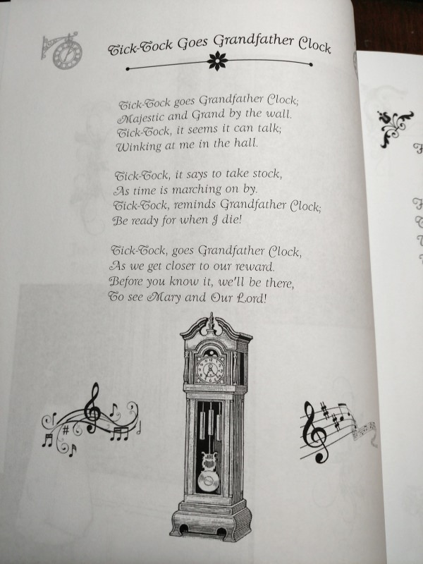 Catholic Mother Goose has a darling poem about a Grandfather Clock.