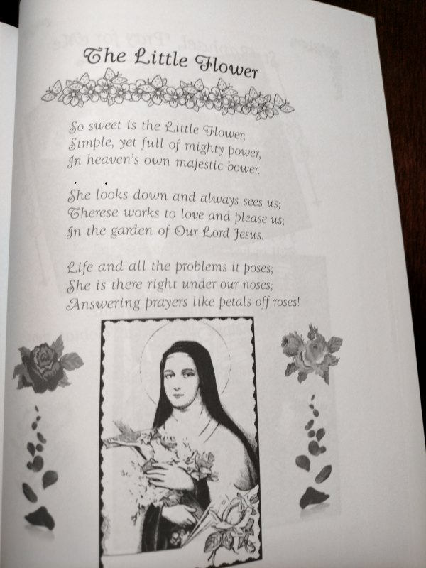 This is a lovely Catholic Mother Goose poem about Saint Therese, The Little Flower.