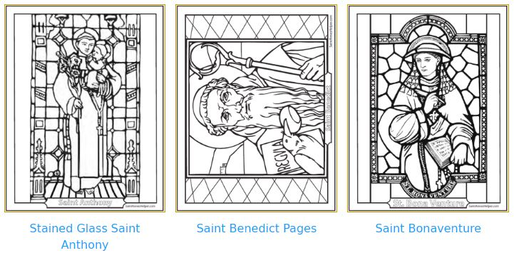 Catholic Saints: Books, Coloring Pages, Worksheets, prayer cards.