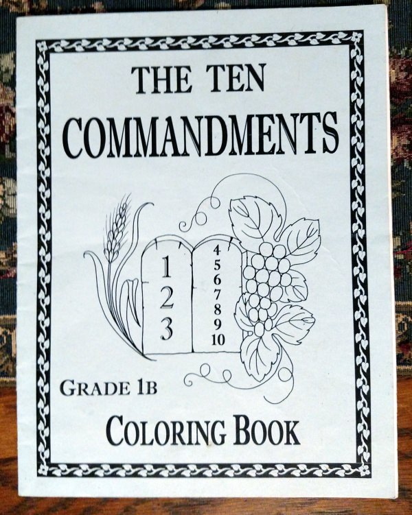 Catholic Ten Commandments Coloring Book
