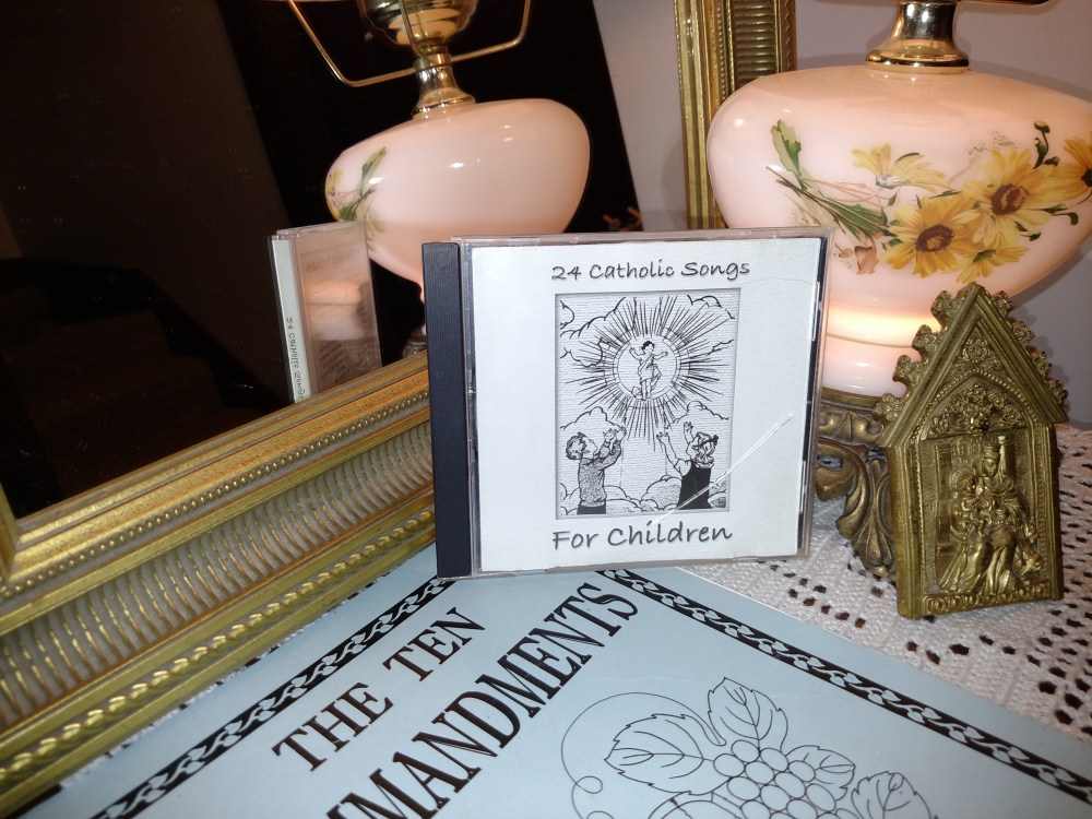 Catholic Ten Commandments, Song, and Coloring Book.