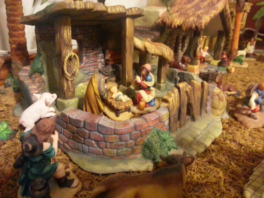 Christmas tree Nativity Scene