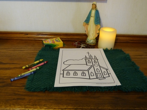 Easy Church Coloring Page To Print