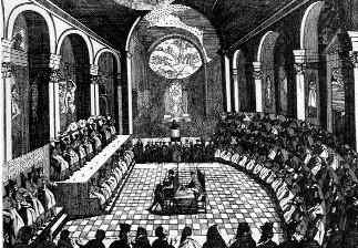 The Council of Trent image of Bishops.