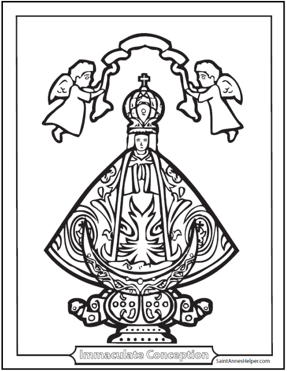 Immaculate Conception Catholic coloring page