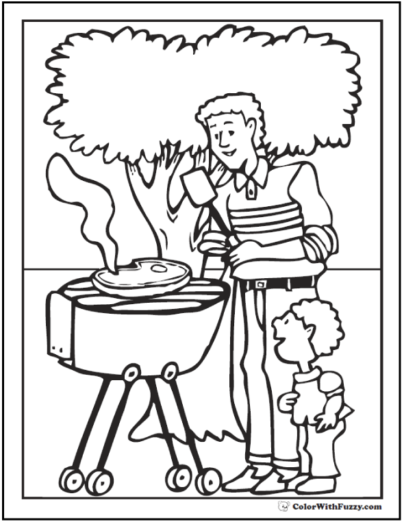 Father's Day Coloring Pages at ColorWithFuzzy.com.