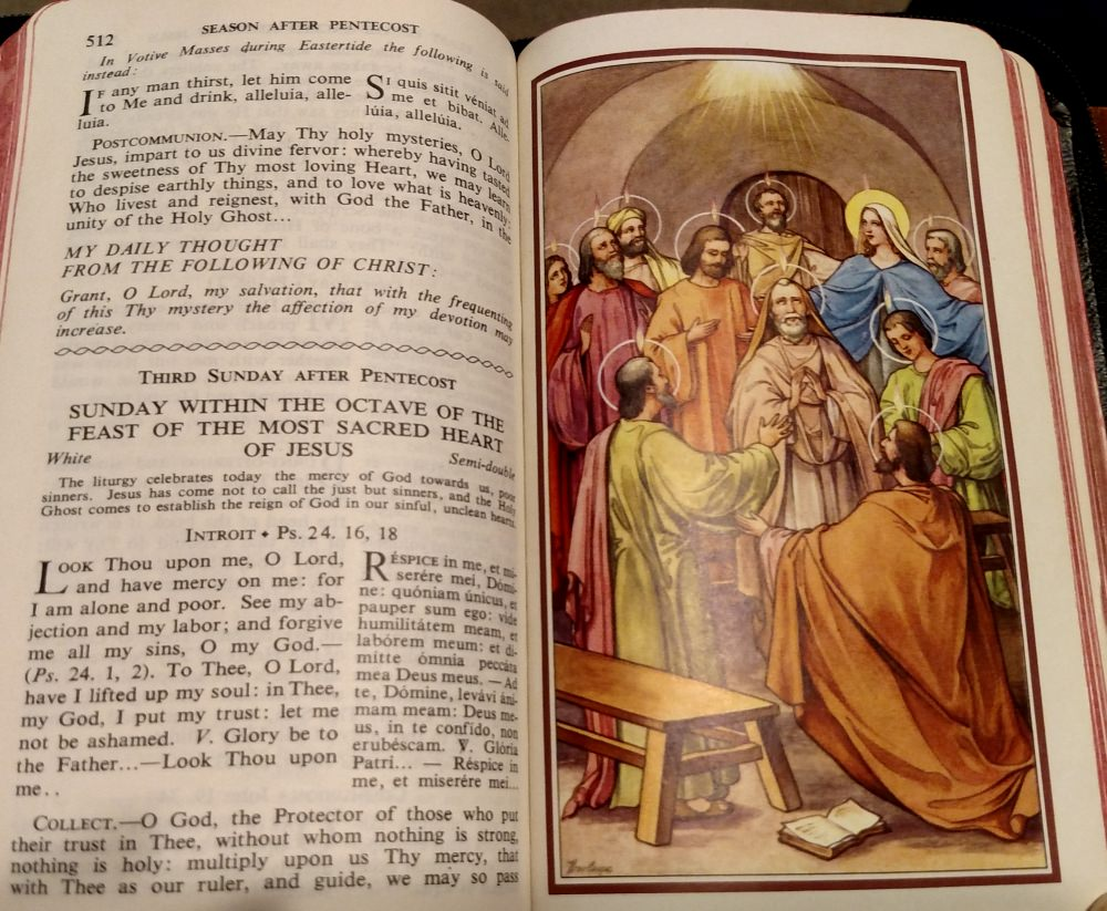 Feast of the Sacred Heart of Jesus Mass: Communion and Daily Thought.