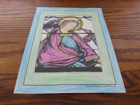 Female Saint Coloring Page