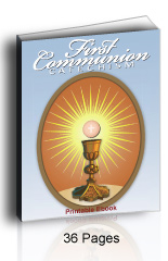 Printable First Communion Ebooklet - 36 Pages.