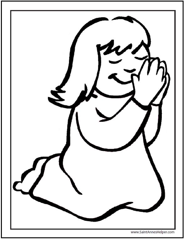 Little Girl Praying Catholic Prayers