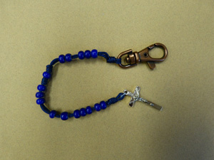 Dark Blue Rosary with clip