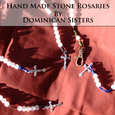 Looking for a beautiful rosary made of stone? These rosaries made from semi-precious stones are very beautiful!