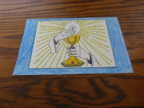 First Communion Coloring Page - Host and Chalice.
