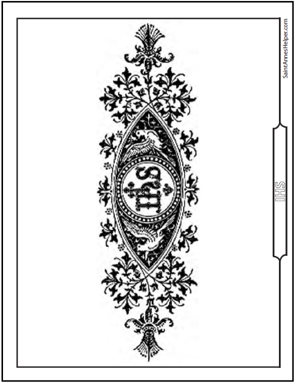 ihs sympol catholic coloring page - Coloring Pages Catholic Sacraments