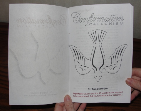 Catholic Confirmation Preparation: Download the Baltimore Questions and Answers In A Printable Confirmation Booklet.