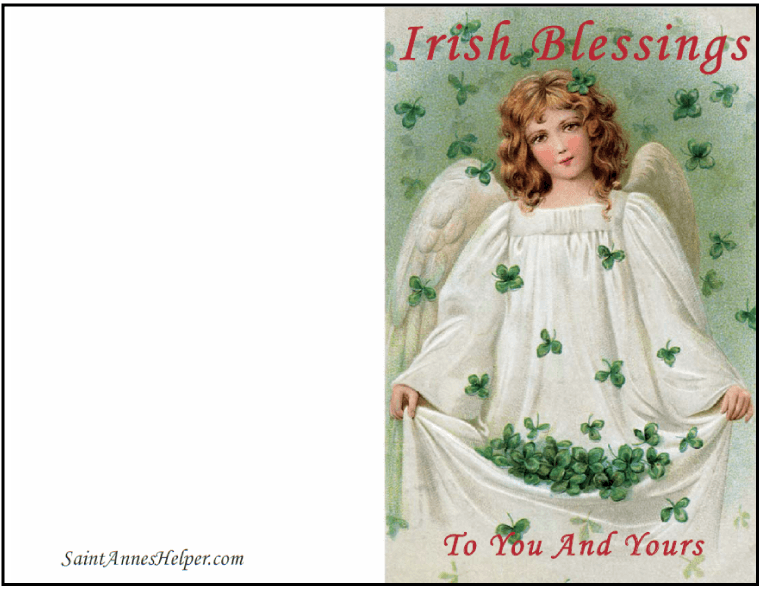 Printable Catholic Christmas Card: An Irish Christmas Angel