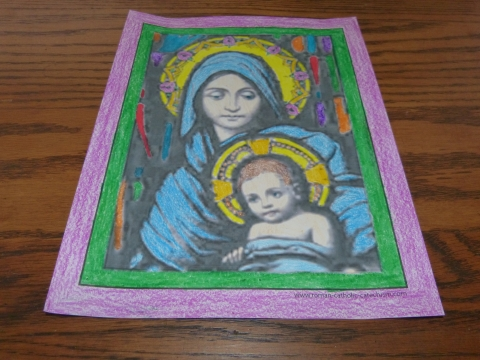 Jesus And Mary Christmas Coloring Pages