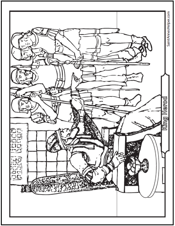 King Herod sought to kill the newborn King Fifth Commandment Coloring Page