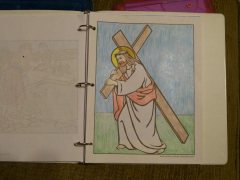 Lent Coloring Pages - Jesus Carries His Cross