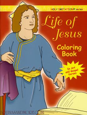 Life of Jesus Catholic coloring books.