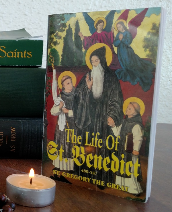 The Life of Saint Benedict has wonderful quotes of his life and miracles.