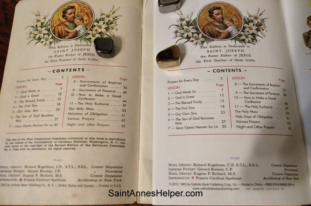 NSJ Catholic catechism changes the publication date from 1963 to 2012.