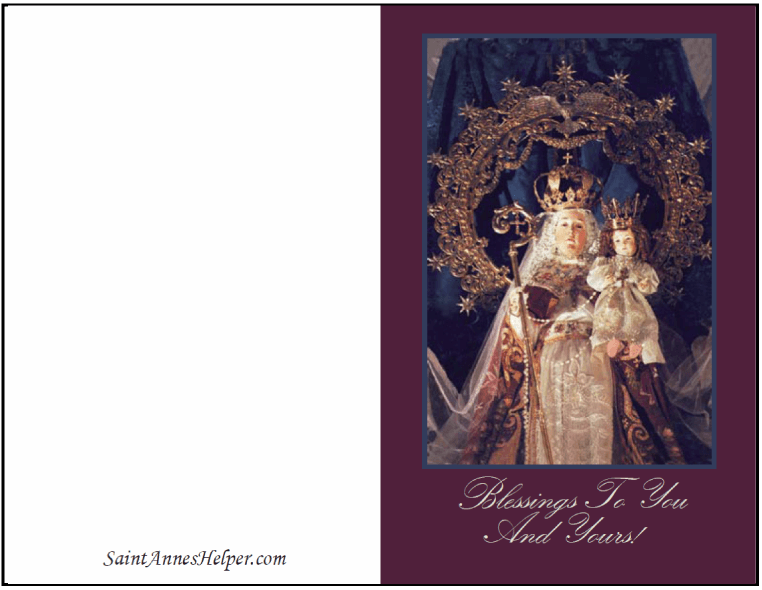 Christmas Printable Greeting Cards: Mary and Jesus - Our Lady of Good Success.