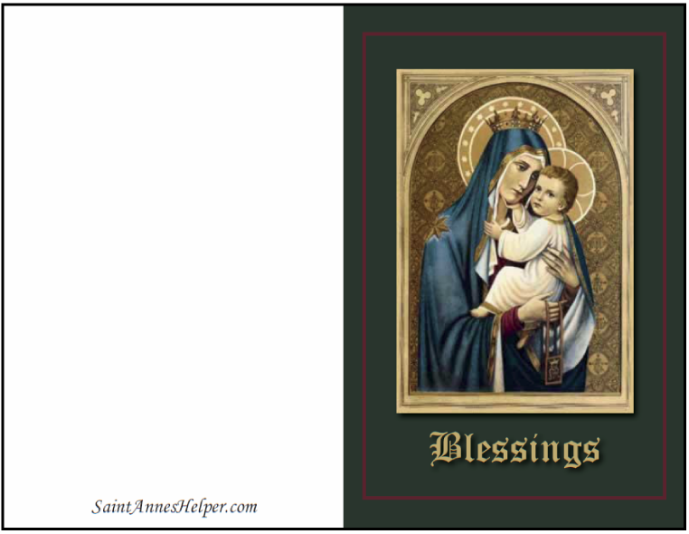 Catholic Christmas Cards: Our Lady of Mount Carmel Christmas Card