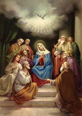 Glory Be Prayer: Prayed in the Catholic Mass and Rosary. Pentecost - The Descent of the Holy Ghost